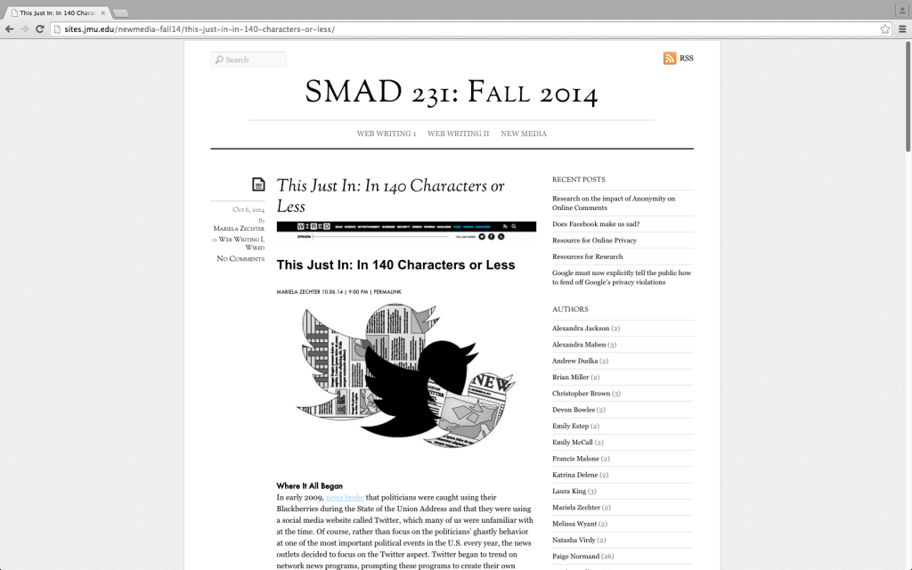 """""""SMAD 231 Preview."""""""