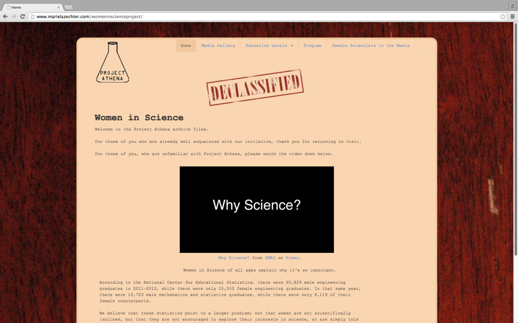 """Women in Science Website Preview."""