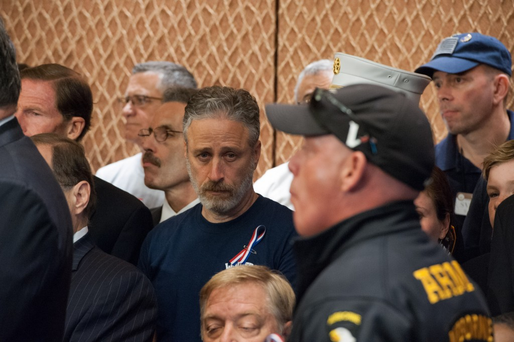 """Comedian Jon Stewart Attending Zadroga Act Press Conference."""