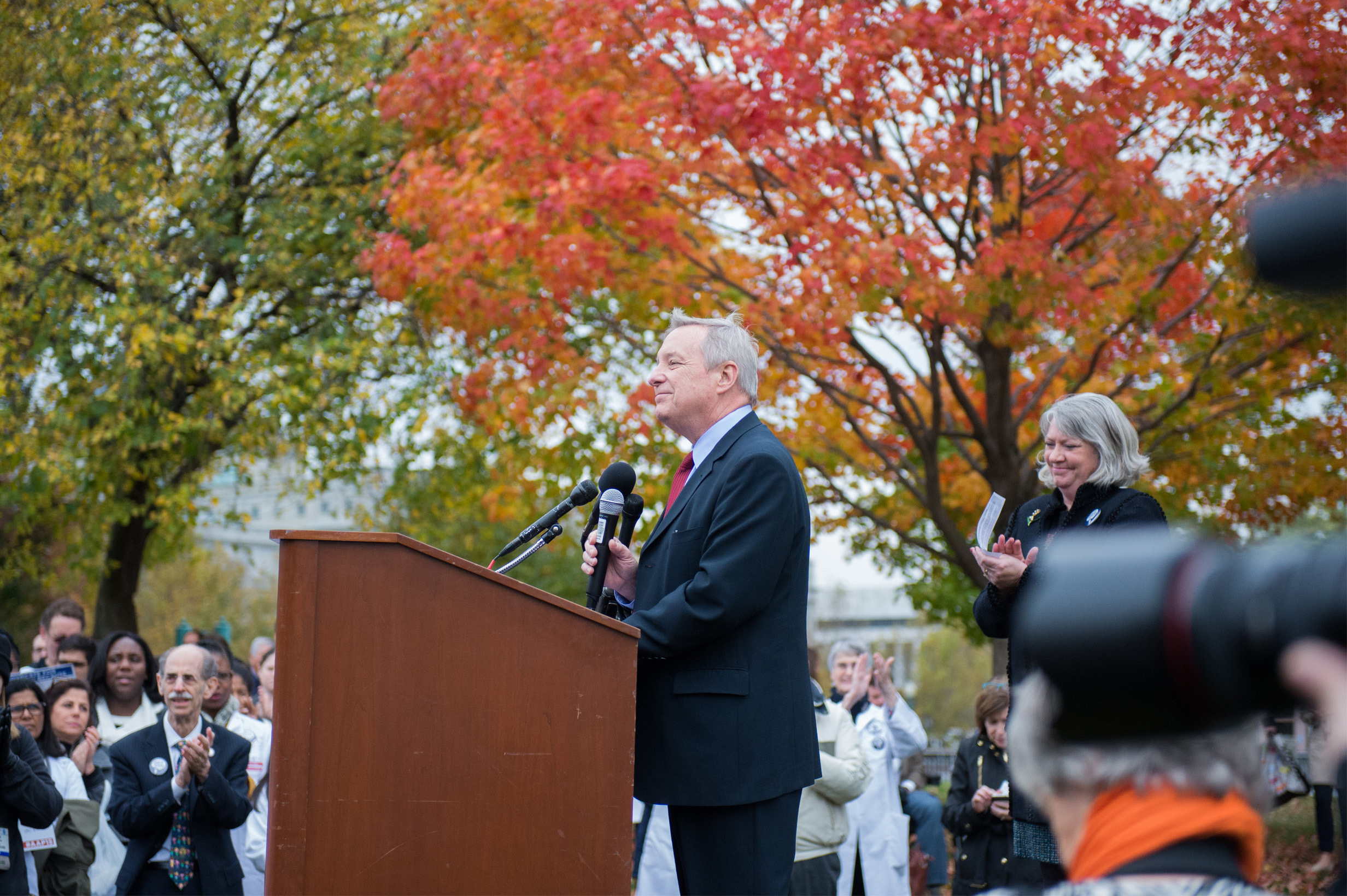 """Senator Durbin speaks at the Rally for Children."""