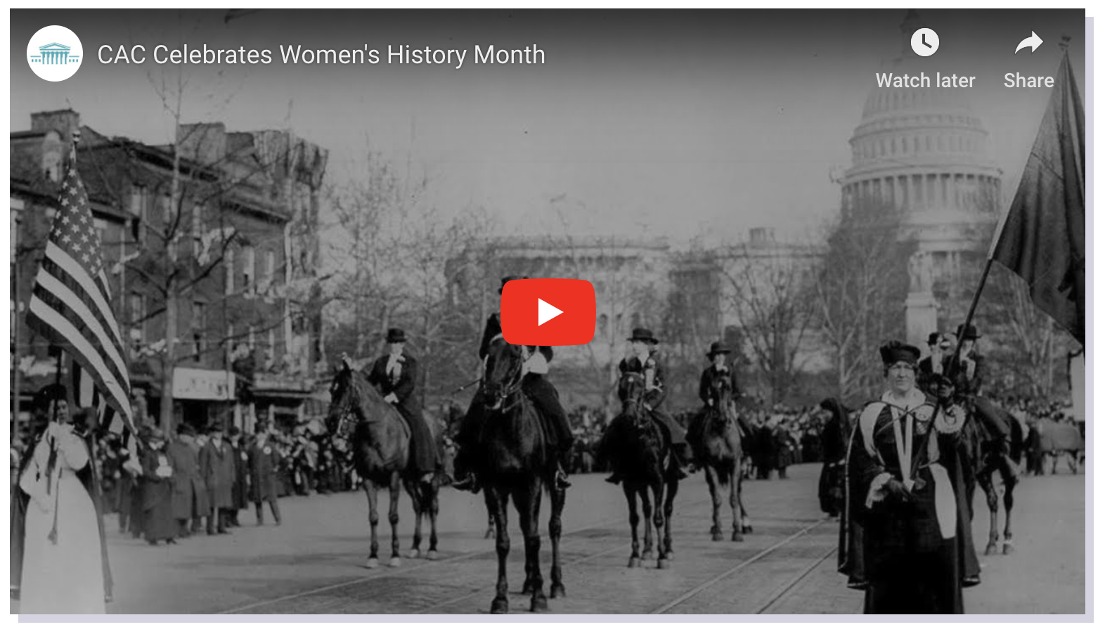 Women's History Month video screenshot