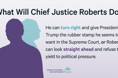 What Will Chief Justice John Roberts Do? graphic
