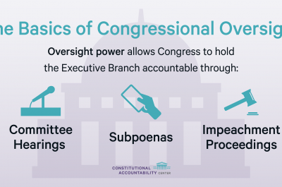 Graphic - The Basics of Congressional Oversight