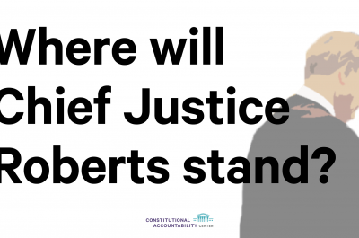 Graphic - Where Will Chief Justice Roberts Stand